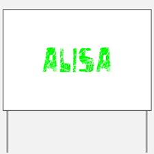 Alisa Faded (Green) Yard Sign