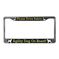 Portugse Water Dog Agility Dog License Plate Frame