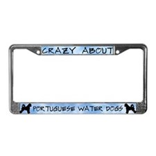 Crazy About Port Water Dogs License Plate Frame