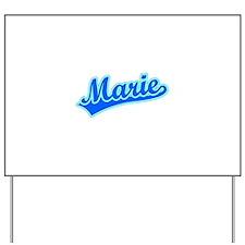 Retro Marie (Blue) Yard Sign