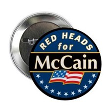 "Red Heads for McCain 2.25"" Button (100 pack)"