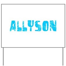 Allyson Faded (Blue) Yard Sign