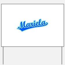 Retro Mariela (Blue) Yard Sign
