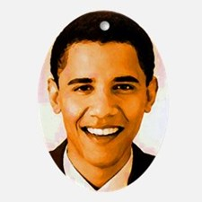 I Love Obama Oval Ornament