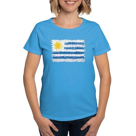 Textual Uruguay Women's Dark T-Shirt