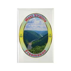 West Virginia Mason Rectangle Magnet (10 pack)