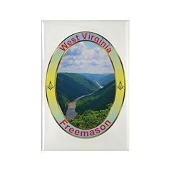 West Virginia Mason Rectangle Magnet