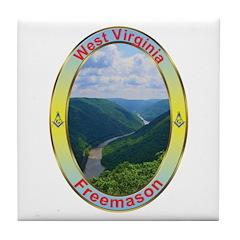 West Virginia Mason Tile Coaster