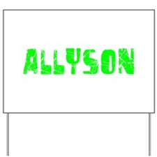 Allyson Faded (Green) Yard Sign
