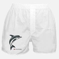 I Love Dolphins Boxer Shorts