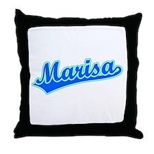 Retro Marisa (Blue) Throw Pillow