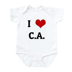 I Love C.A. Infant Bodysuit