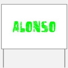 Alonso Faded (Green) Yard Sign