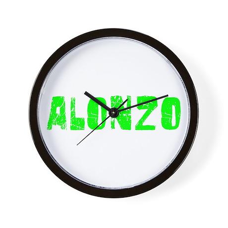 Alonzo Faded (Green) Wall Clock