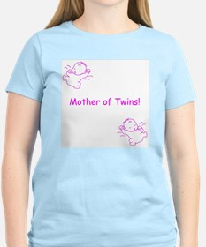 Mother of Twins - Pink Women's Pink T-Shirt