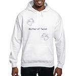Mother of Twins - Blue Hooded Sweatshirt
