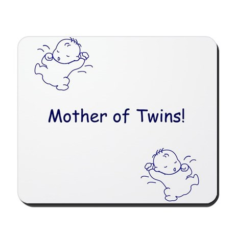 Mother of Twins - Blue Mousepad