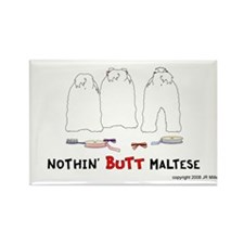 Nothin' Butt Maltese Rectangle Magnet