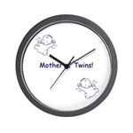 Mother of Twins - Blue Wall Clock