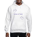 Father of Twins - Blue Hooded Sweatshirt