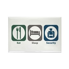Eat Sleep Security Rectangle Magnet (10 pack)