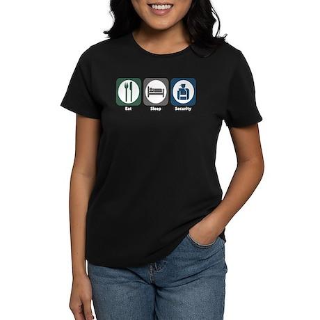 Eat Sleep Security Women's Dark T-Shirt
