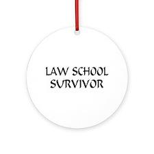 Law School Survivor Ornament (Round)