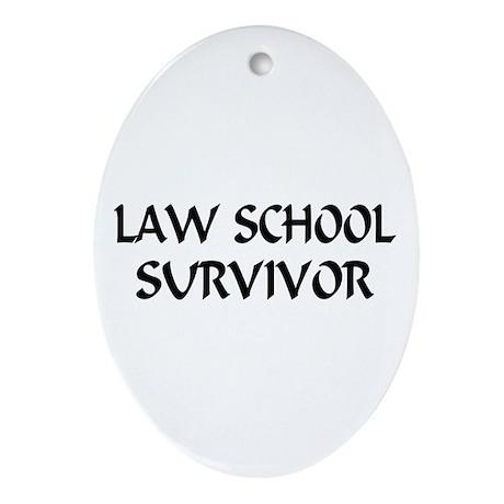 Law School Survivor Oval Ornament