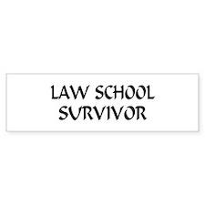 Law School Survivor Bumper Bumper Sticker