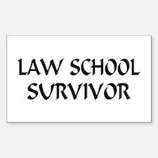 Law School Survivor Rectangle Decal