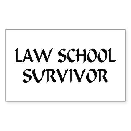 Law School Survivor Rectangle Sticker