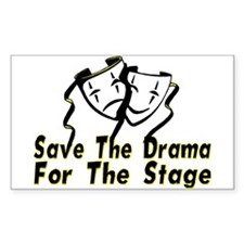 Save The Drama Rectangle Decal