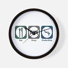 Eat Sleep Scuba Dive Wall Clock