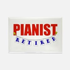 Retired Pianist Rectangle Magnet