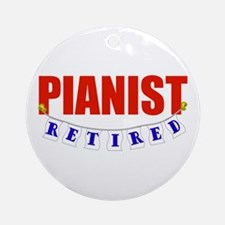 Retired Pianist Ornament (Round)