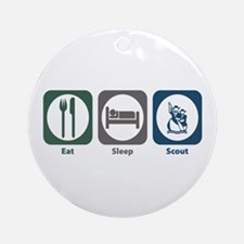 Eat Sleep Scout Ornament (Round)