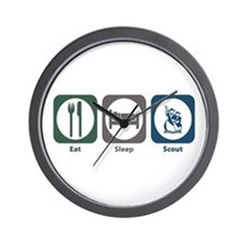 Eat Sleep Scout Wall Clock