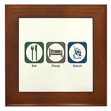 Eat Sleep Scout Framed Tile