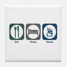 Eat Sleep Scout Tile Coaster
