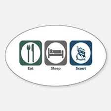 Eat Sleep Scout Oval Decal