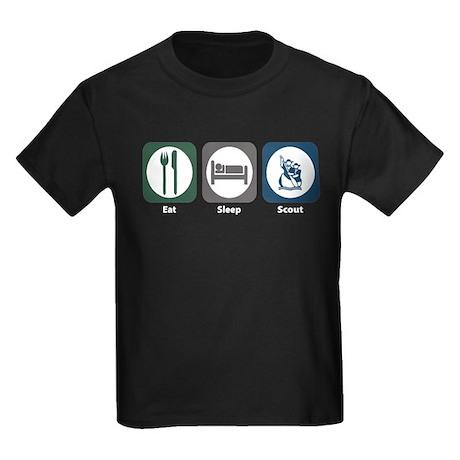 Eat Sleep Scout Kids Dark T-Shirt