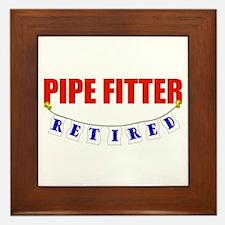 Retired Pipe Fitter Framed Tile