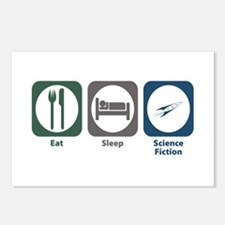 Eat Sleep Science Fiction Postcards (Package of 8)