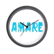 Amare Faded (Blue) Wall Clock