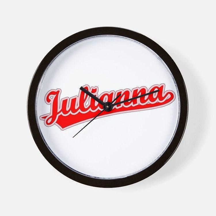 Retro Julianna (Red) Wall Clock