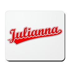 Retro Julianna (Red) Mousepad