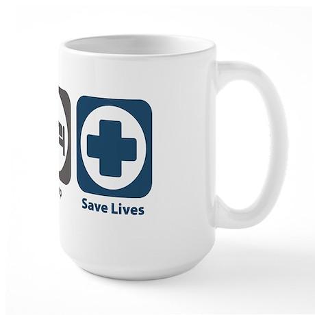 Eat Sleep Save Lives Large Mug