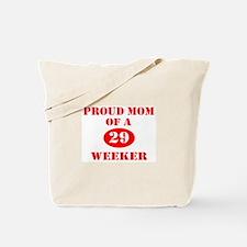 Proud Mom 29 Weeker Tote Bag