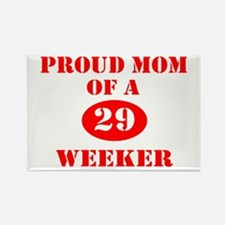 Proud Mom 29 Weeker Rectangle Magnet