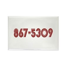867-5309 Rectangle Magnet